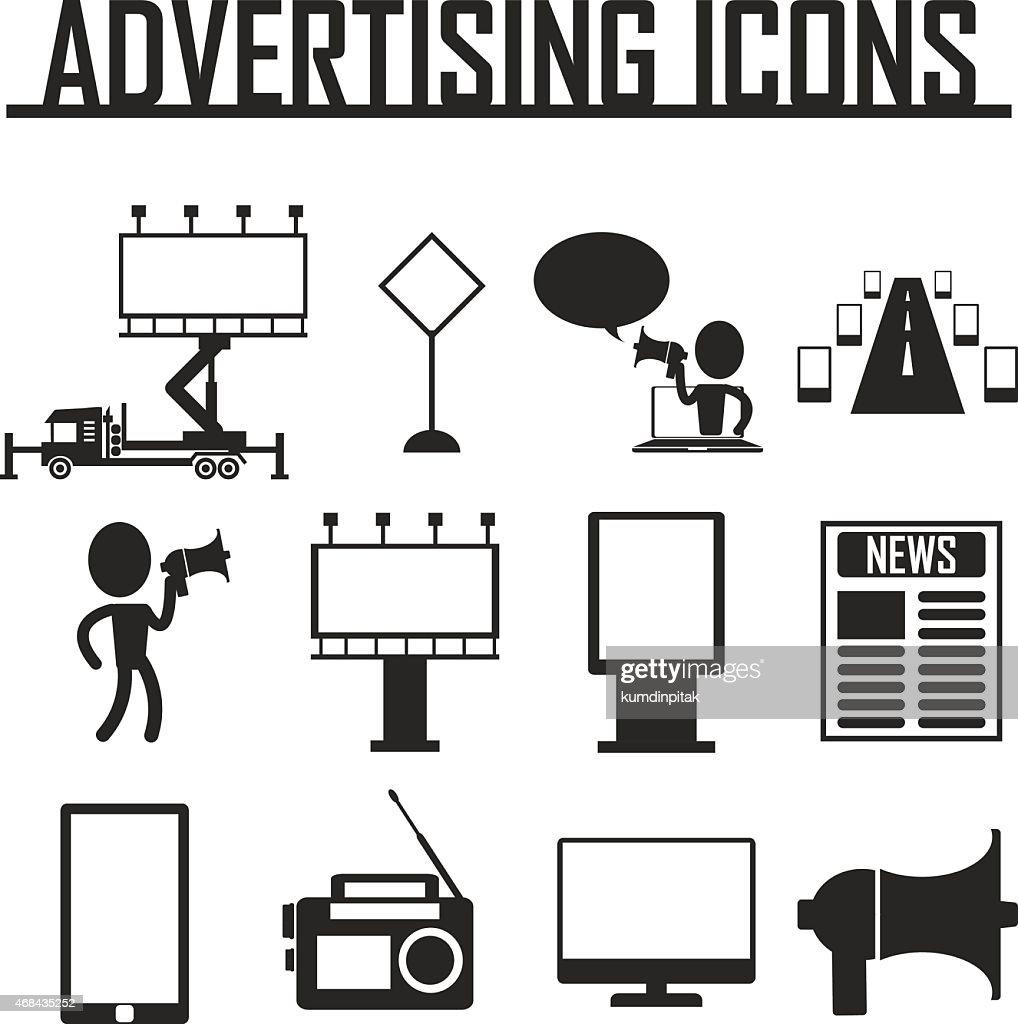 Advertisement icons. vector illustraton eps 10