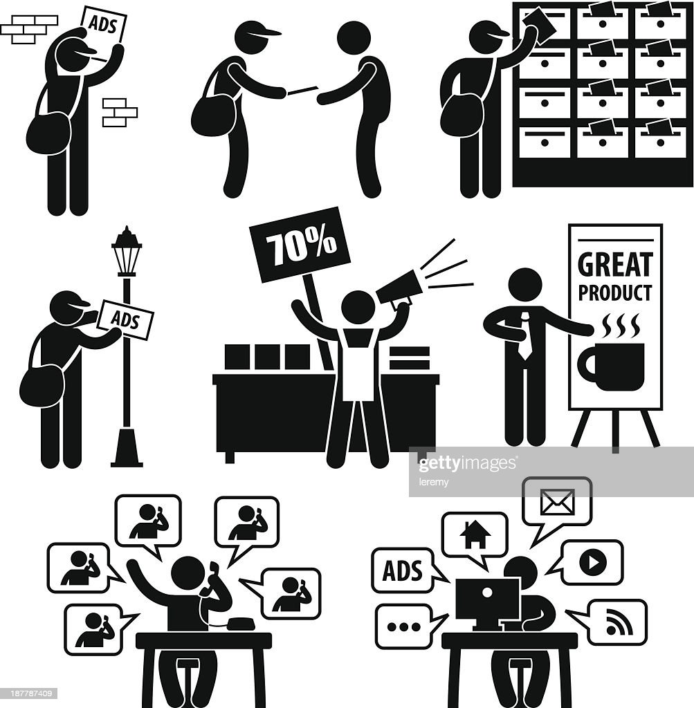 Advertisement Marketing Strategy Pictogram