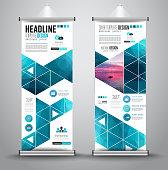 Advertisement roll up business flyer or brochure banner,vertical design.