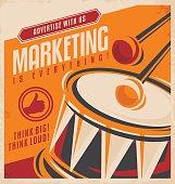 Advertising and marketing retro poster design