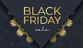 advertising black friday dark blue with