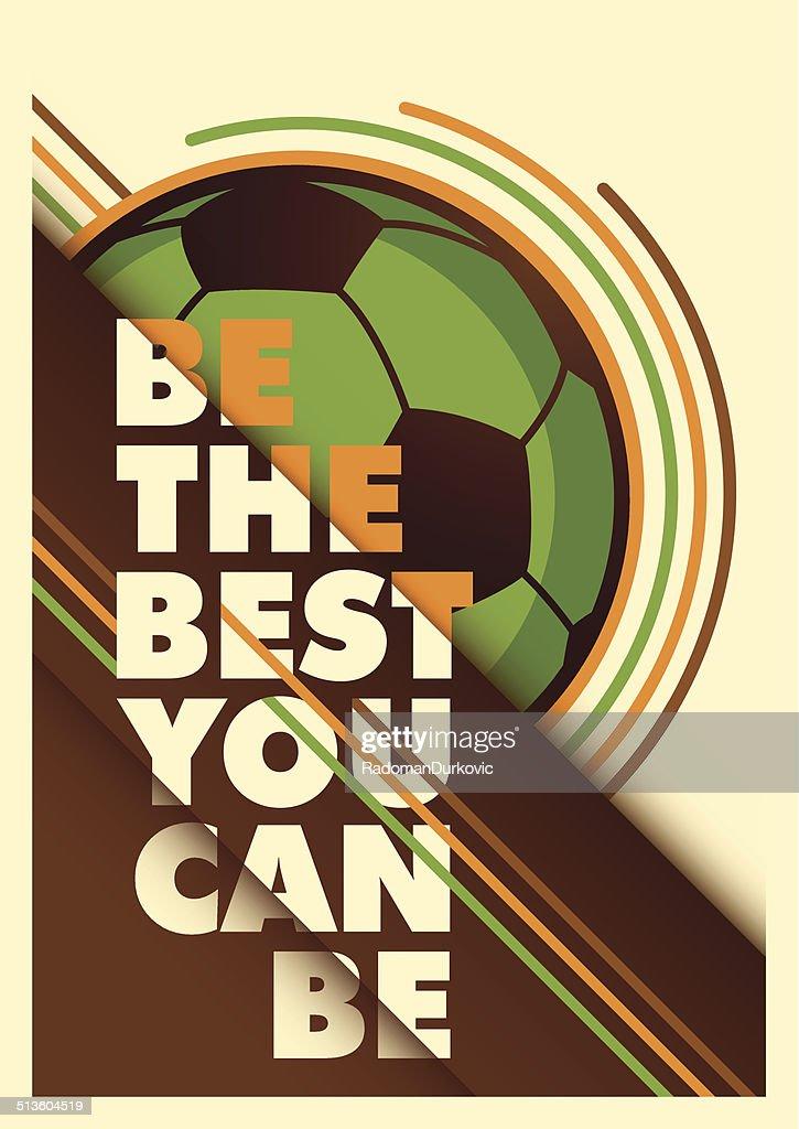 Advertising football poster design.
