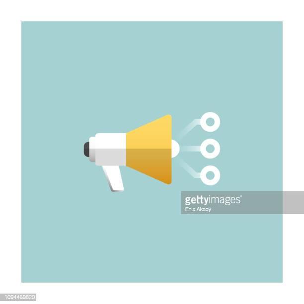 advertising icon - public speaker stock illustrations