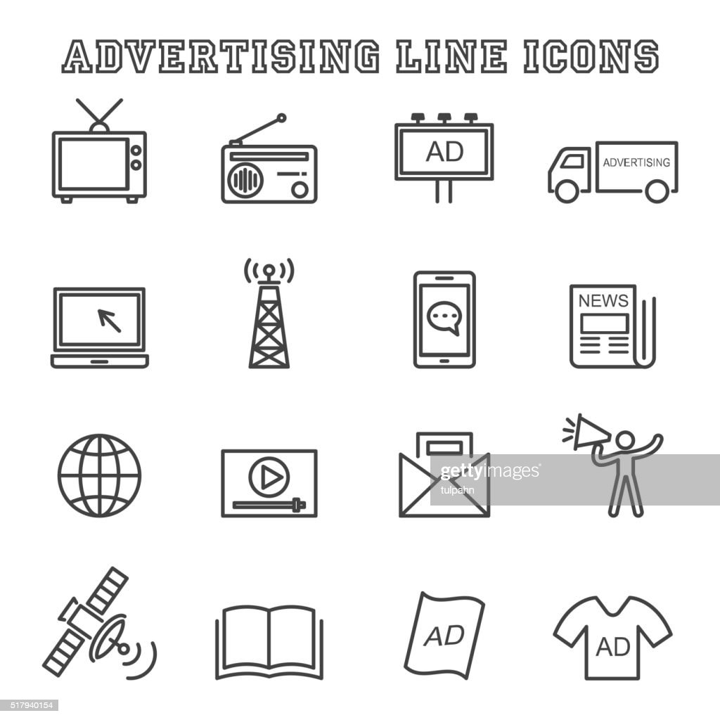 advertising line icons