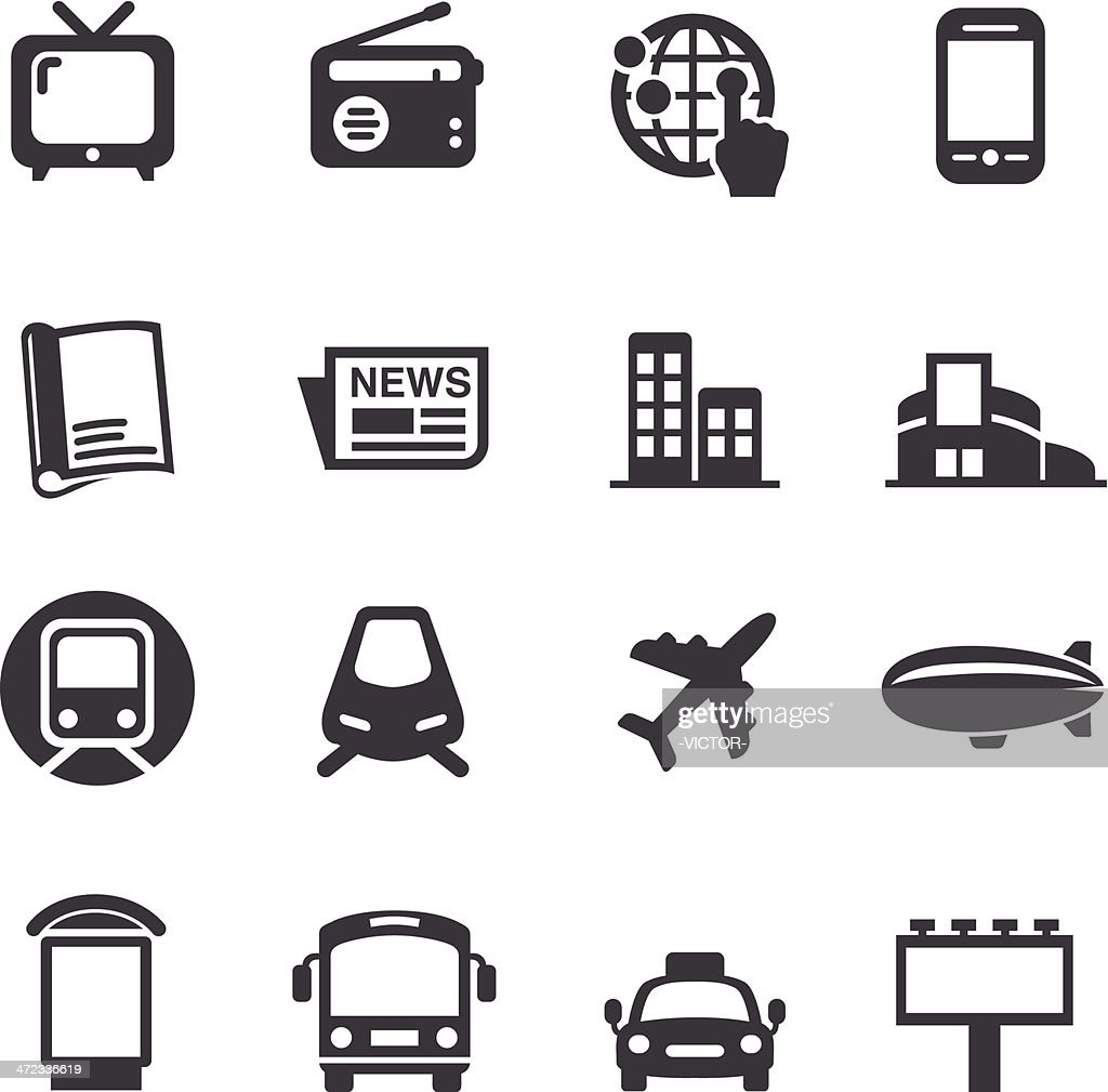 Advertising Media Icons - Acme Series : stock illustration