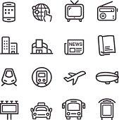 Advertising Media Icons - Line Series