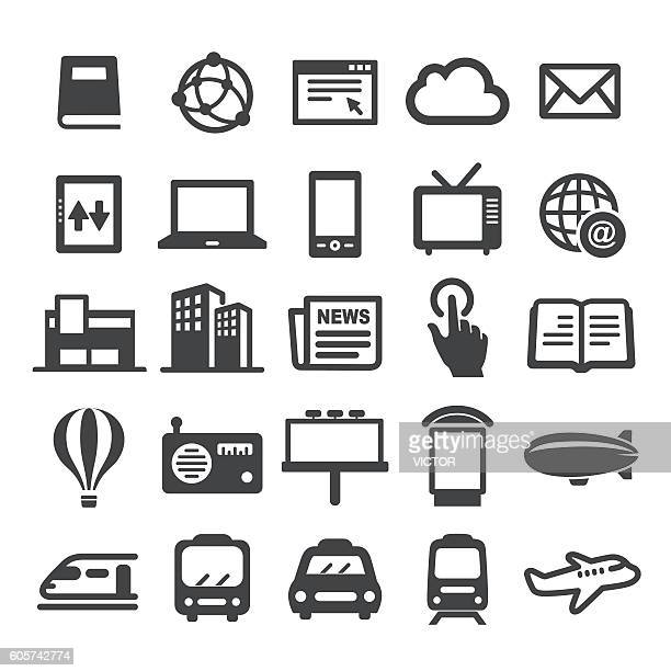 advertising media icons - smart series - television industry stock illustrations