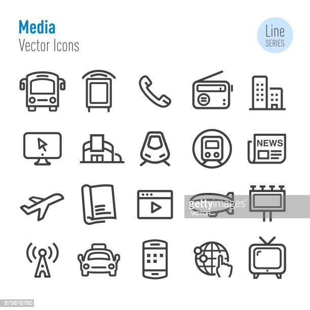 Advertising Media Icons - Vector Line Series