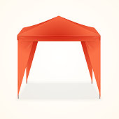 Advertising Outdoor Event Folding Promotional Tent. Vector