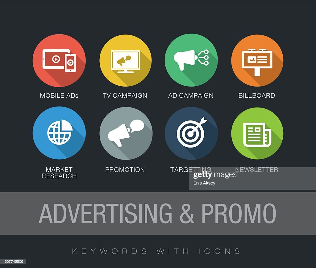 Advertising & Promo keywords with icons