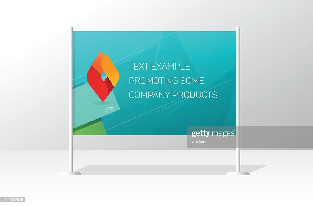 Advertising stand board banner template, signboard advertisement billboard