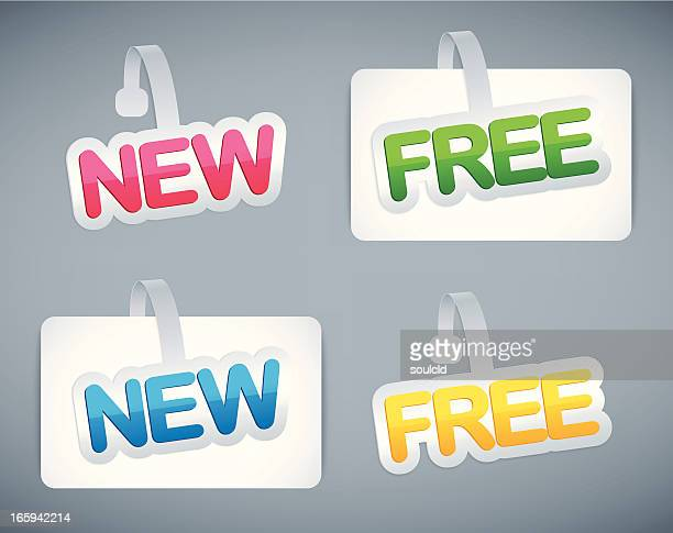 advertising stickers - fee stock illustrations
