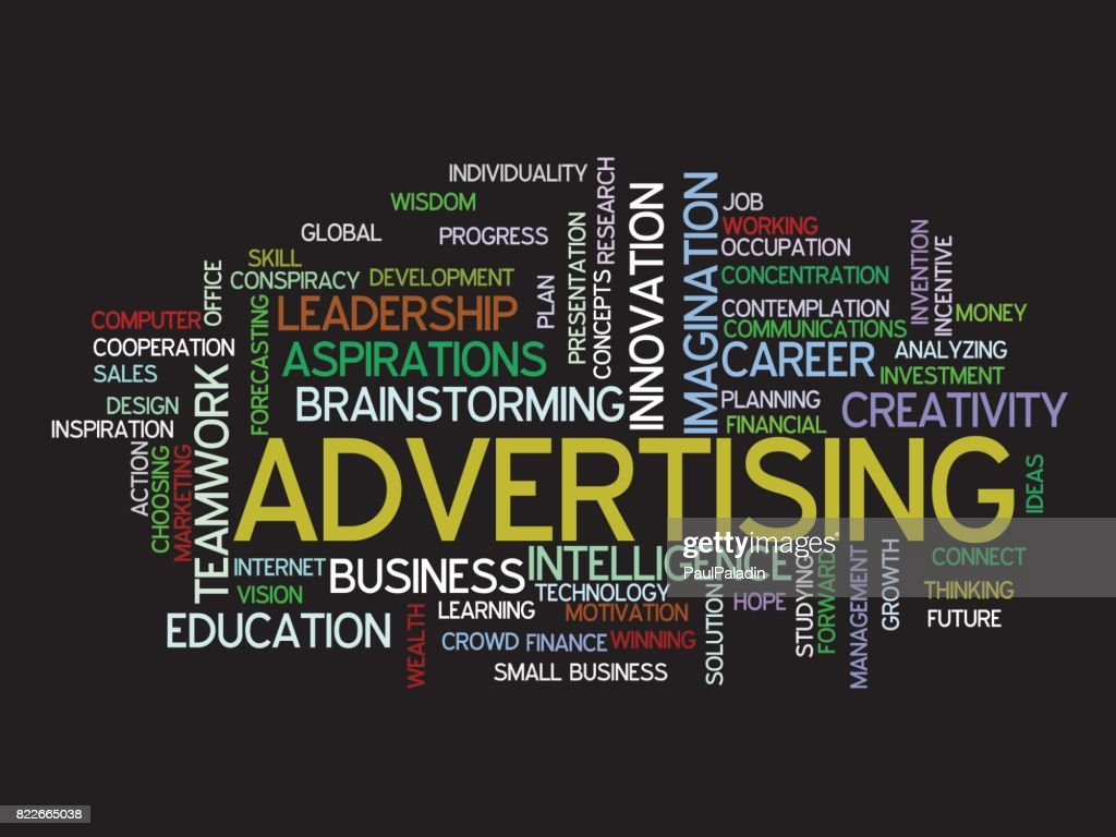 advertising strategy word cloud