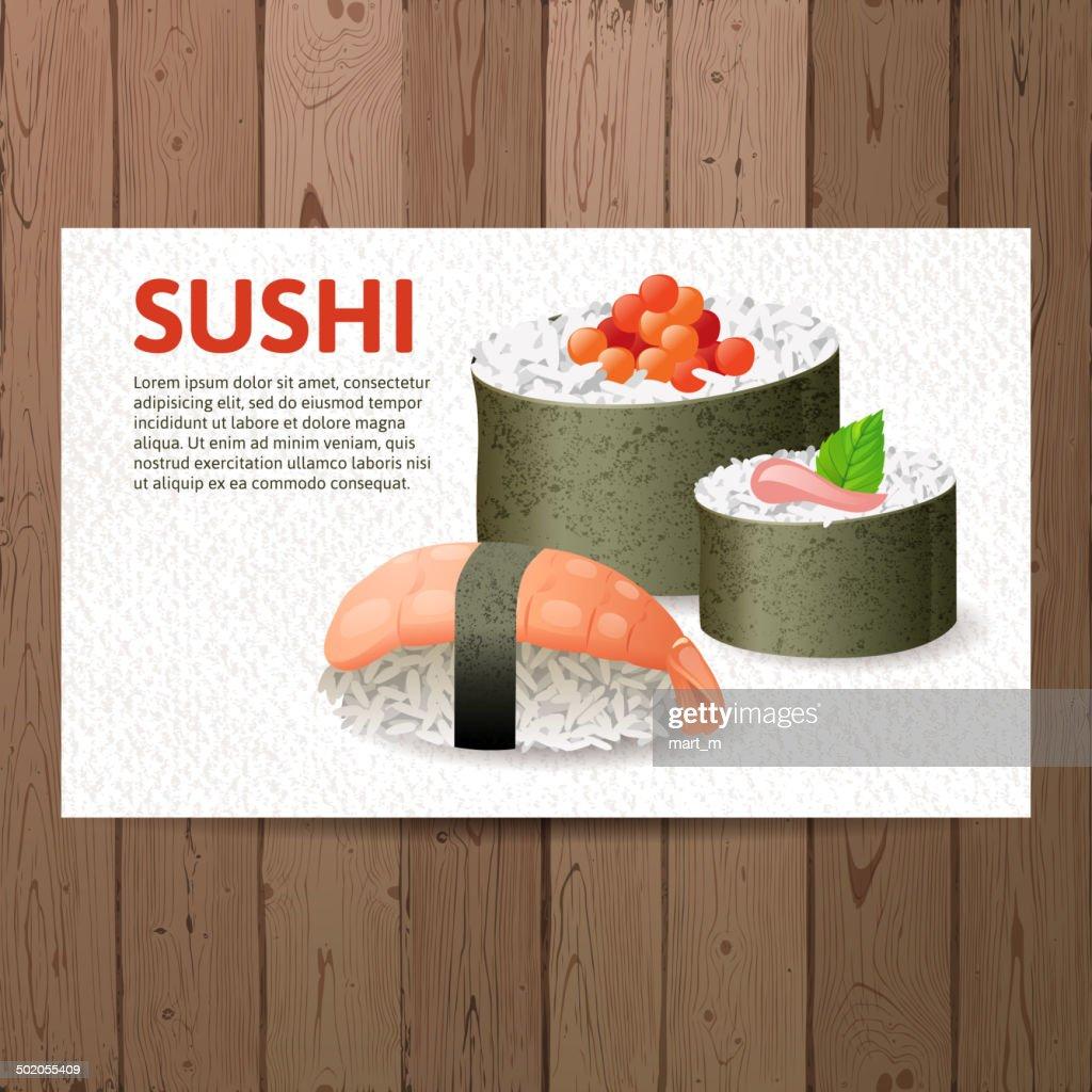 Advertising sushi card