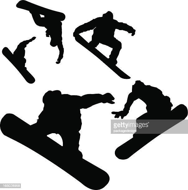 Aerial Snowboarder