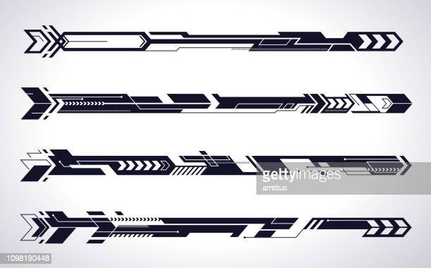 aero arrow panels - shape stock illustrations