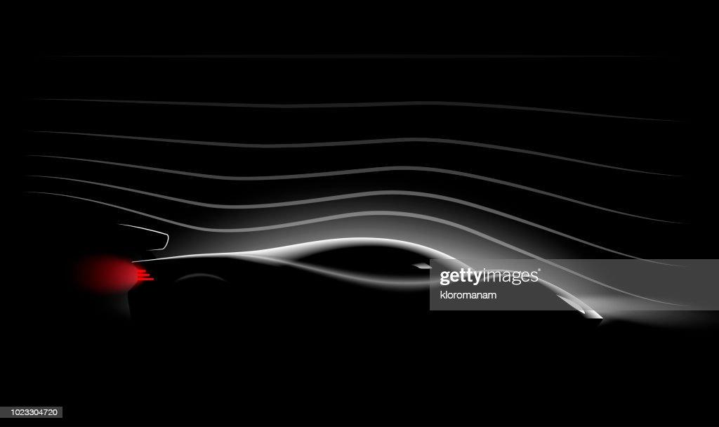 Aerodynamics of the Realistic sports car