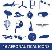 aeronautical icons set