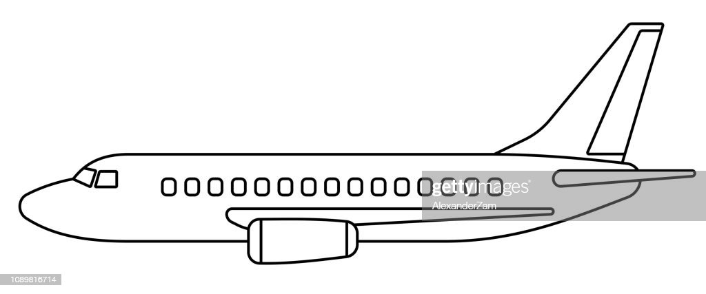 Aeroplane contour illustration