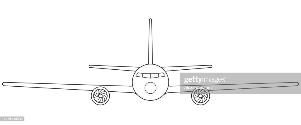Aeroplane front view