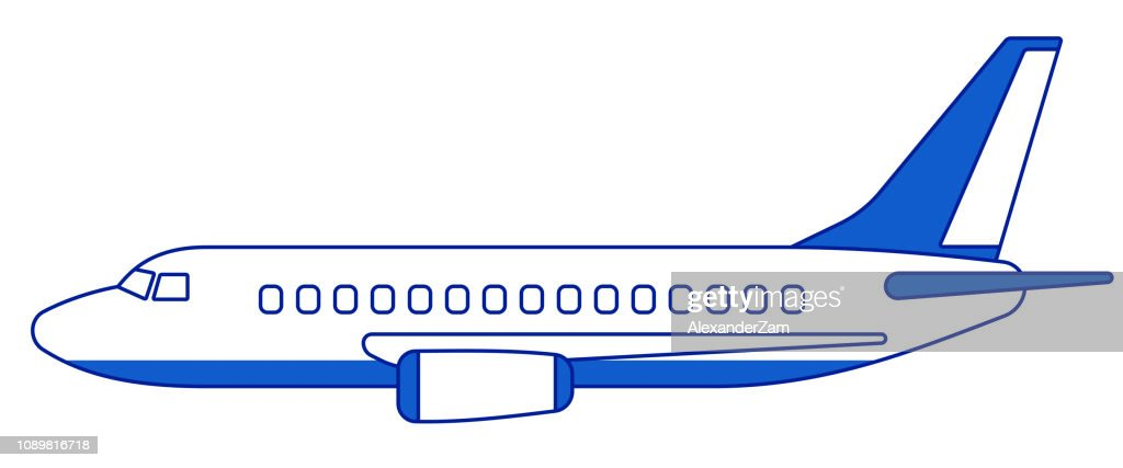 Aeroplane side view