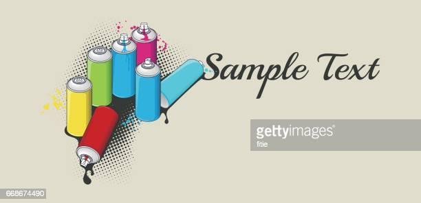 ilustrações de stock, clip art, desenhos animados e ícones de aerosol spray cans for graffiti art - hip hop