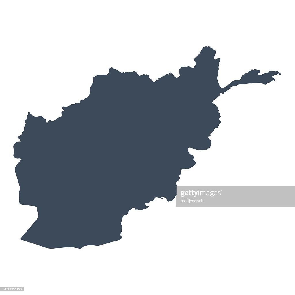 Afghanistan Country Map stock vector - Getty Images