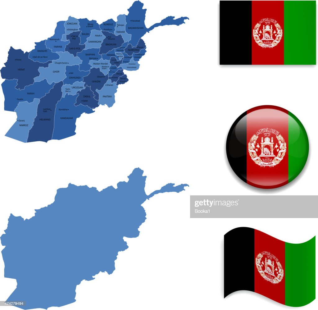 Afghanistan Map and Flag Collection