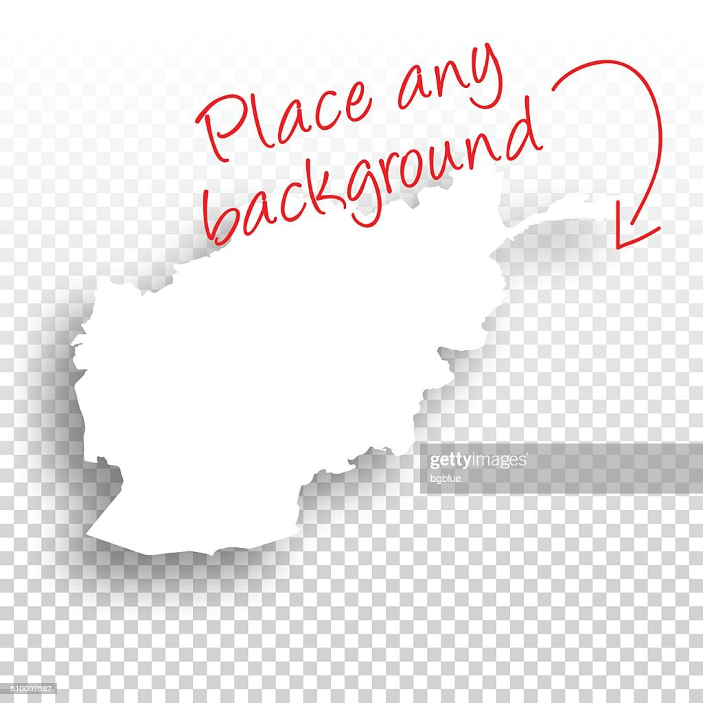 Afghanistan Map for design - Blank Background