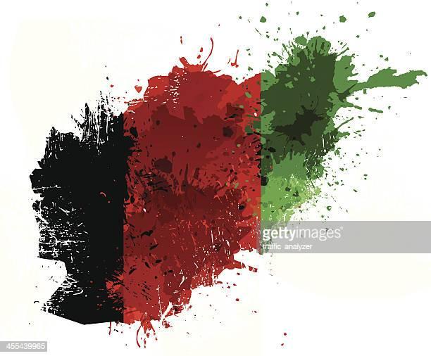 afghanistan map - afghanistan war stock illustrations