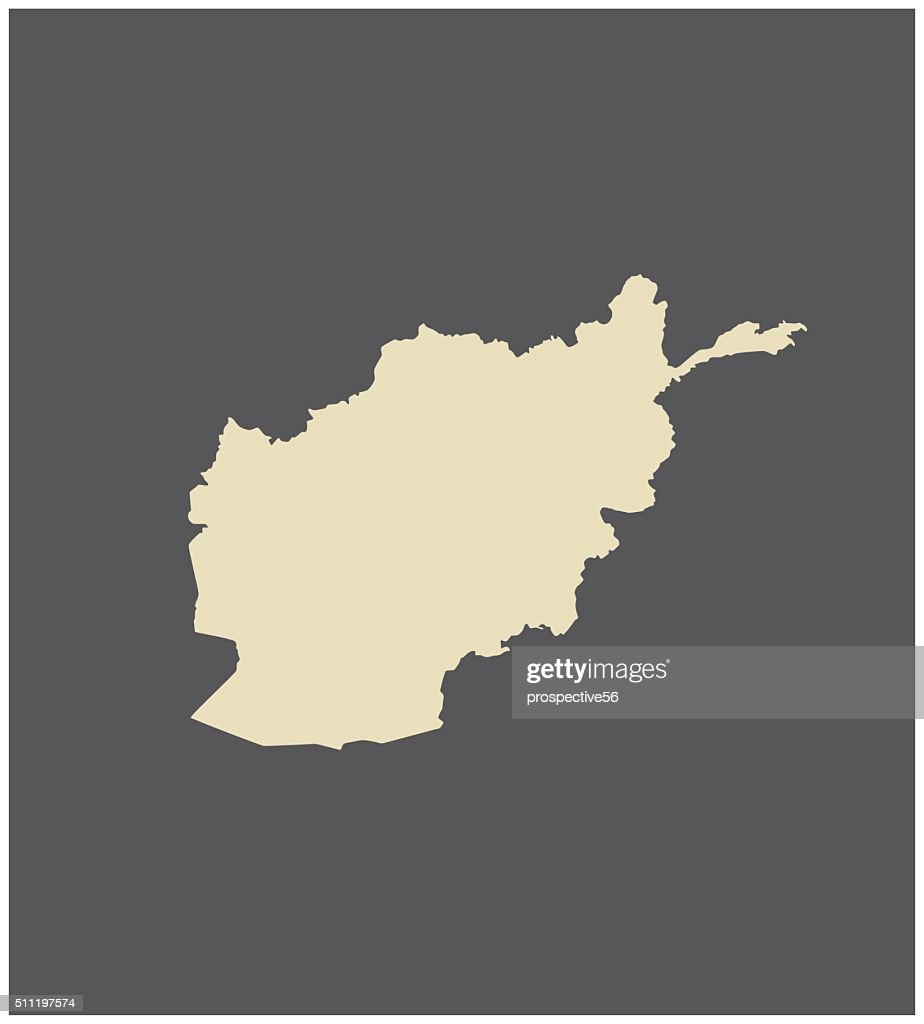 Afghanistan map vector outline