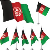 Afghanistan vector flags