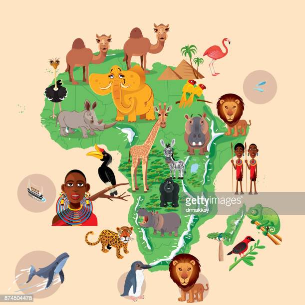 Africa Animals Map