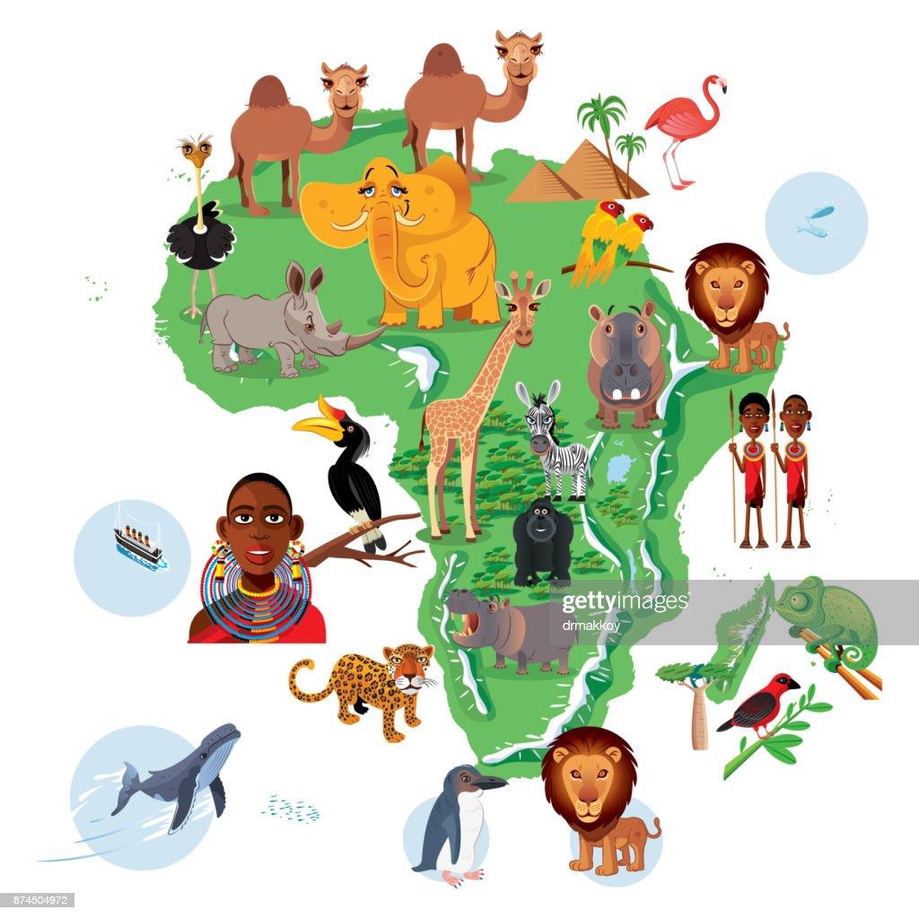 Africa Animals Map