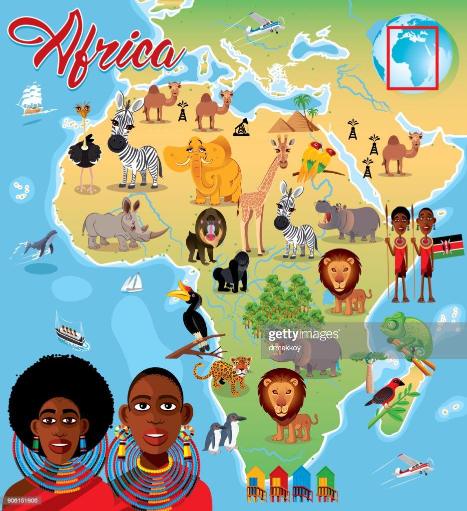 Africa Cartoon Map Vector Art Getty Images