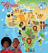 Africa Cartoon Map