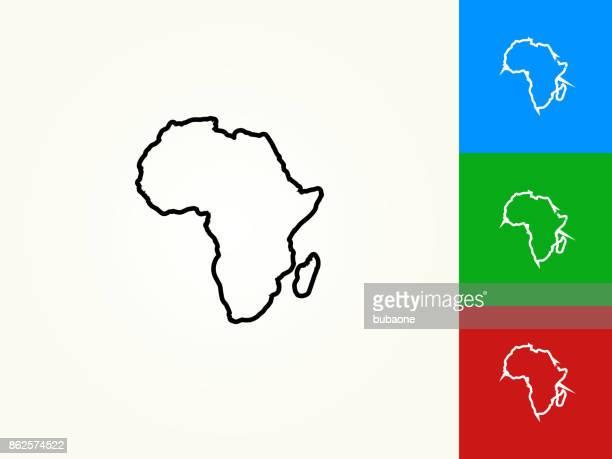 Afrika-Kontinent schwarzer Strich lineare Symbol