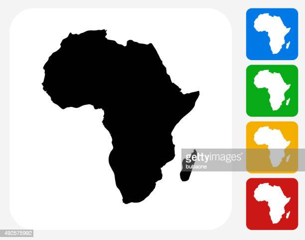 stockillustraties, clipart, cartoons en iconen met africa continent icon flat graphic design - africa
