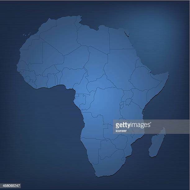 africa dark map - lorraine stock illustrations, clip art, cartoons, & icons