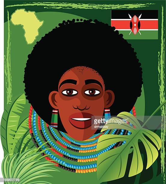 ilustraciones, imágenes clip art, dibujos animados e iconos de stock de cara de áfrica - masai