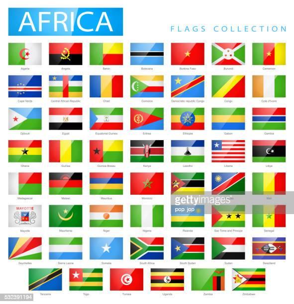ilustrações, clipart, desenhos animados e ícones de africa-tv brilhante retangular com bandeira-ilustração de ícones - libéria