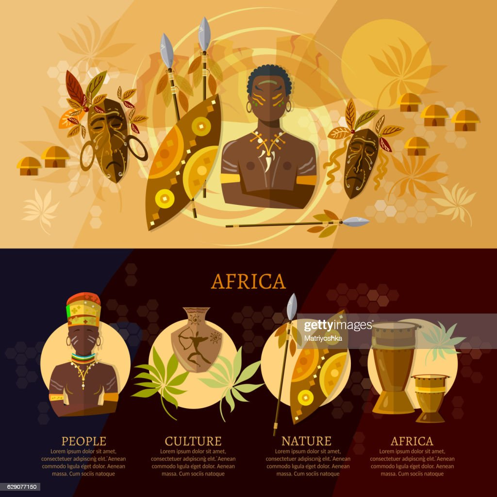 Africa infographic, culture and traditions of Africa