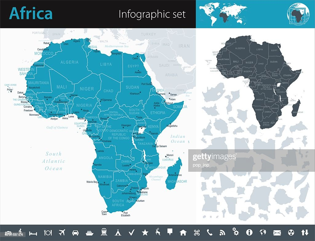 Africa - Infographic map - illustration : stock illustration