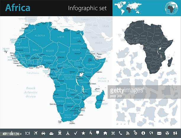 Afrika-Infografik Karte-illustration