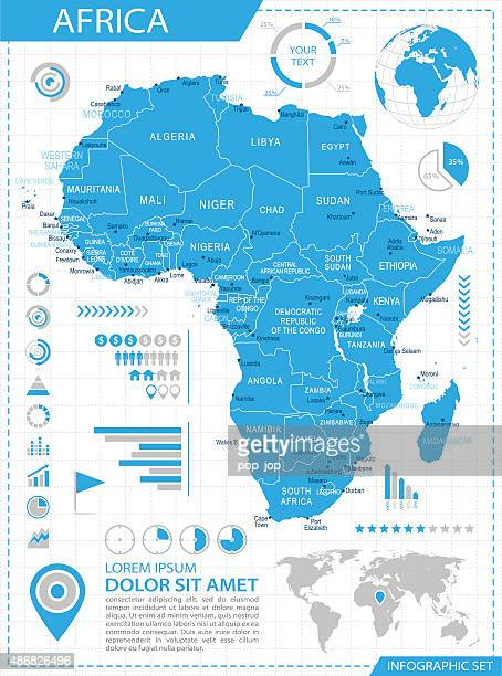 Africa - infographic map - Illustration