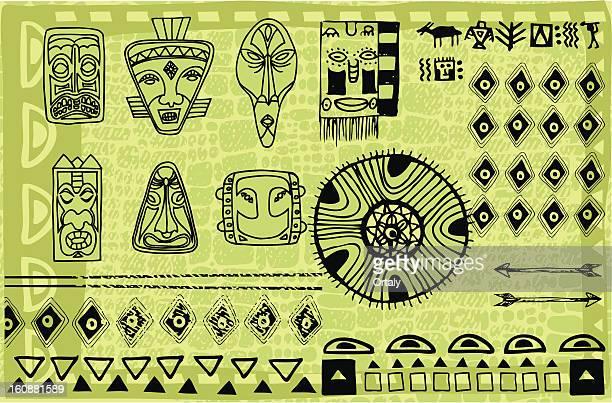 illustrations, cliparts, dessins animés et icônes de afrique d'illustration - masque africain