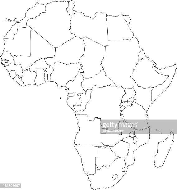 africa line map - senegal stock illustrations, clip art, cartoons, & icons