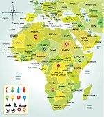 Africa map colorfull