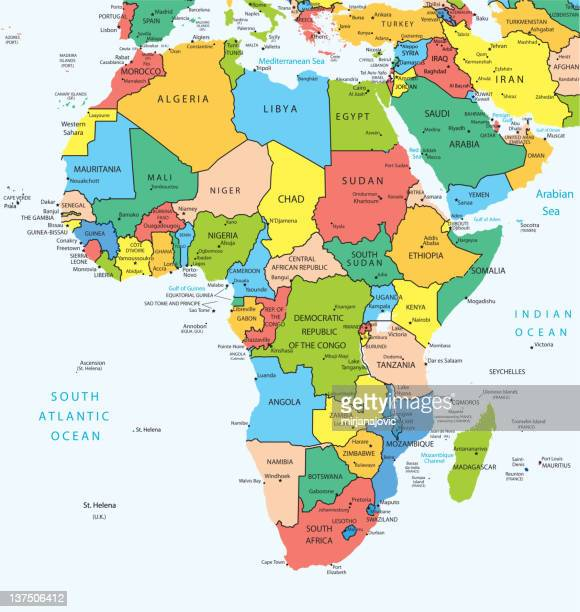 africa map countries - west africa stock illustrations, clip art, cartoons, & icons
