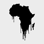 Africa Map dripping Art
